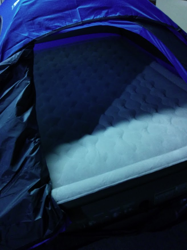 Indoor Camping Air Mattress. Nope.