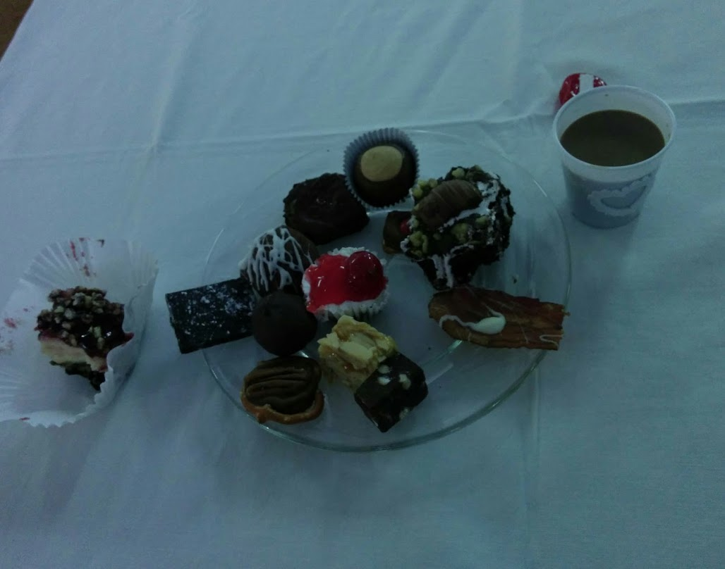 Plate full of delicious chocolate treats