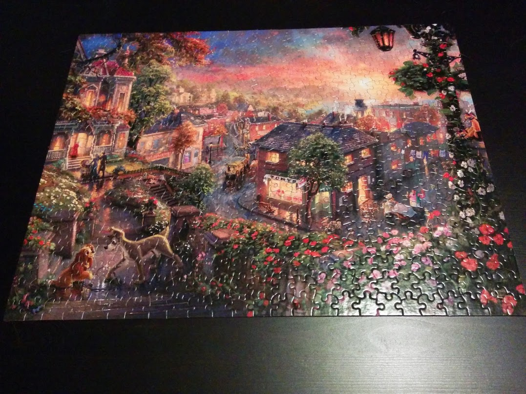 Completed Lady and the Tramp puzzle